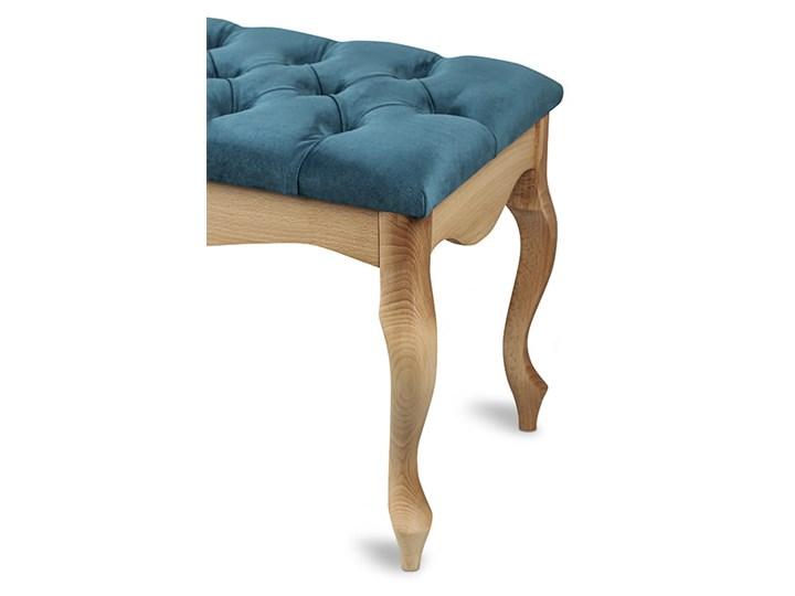 Ławka drewniana z pikowanym siedziskiem - Loren Pikowana Kategoria Ławki do salonu Materiał obicia Tkanina