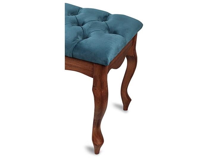 Ławka drewniana z pikowanym siedziskiem - Loren Kolor Pikowana Materiał obicia Tkanina