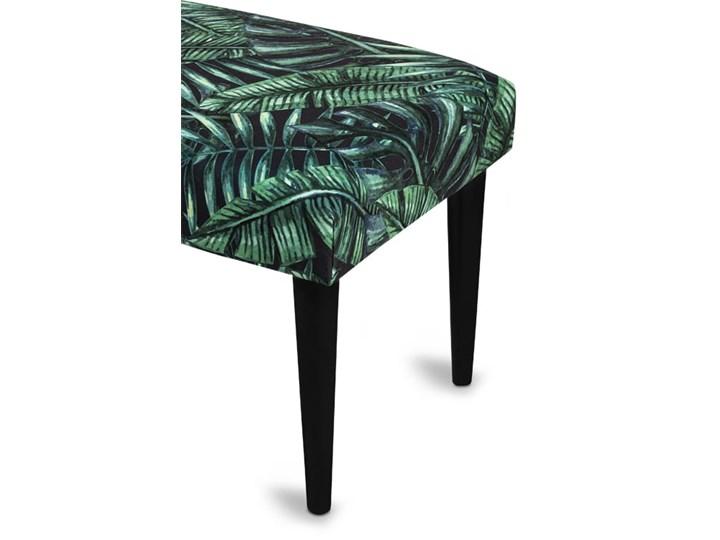 Ławka tapicerowana PALM Kolor Zielony Materiał nóżek Drewno