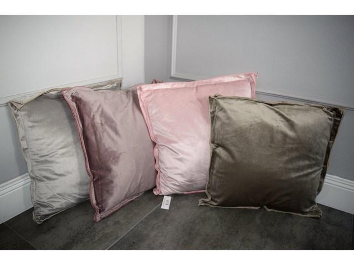 Poduszka aksamit Glamour Poduszka dekoracyjna Kwadratowe 46x46 cm Kolor Różowy
