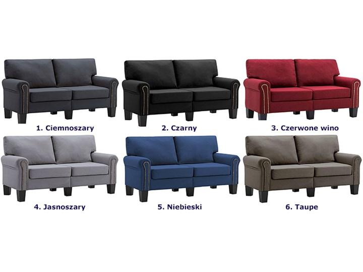 Luksusowa trzyosobowa sofa czerwone wino - Alaia 2X Boki Z bokami Głębokość 70 cm Szerokość 145 cm Kolor Czerwony