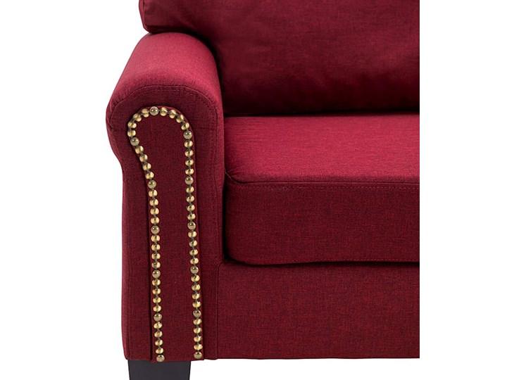 Luksusowa trzyosobowa sofa czerwone wino - Alaia 2X Głębokość 70 cm Szerokość 145 cm Kategoria Sofy i kanapy Kolor Czerwony
