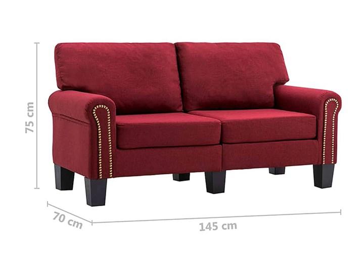 Luksusowa trzyosobowa sofa czerwone wino - Alaia 2X Szerokość 145 cm Głębokość 70 cm Typ Gładkie