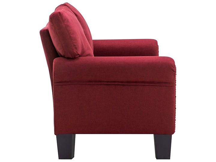Luksusowa trzyosobowa sofa czerwone wino - Alaia 2X Typ Gładkie Głębokość 70 cm Szerokość 145 cm Kolor Czerwony