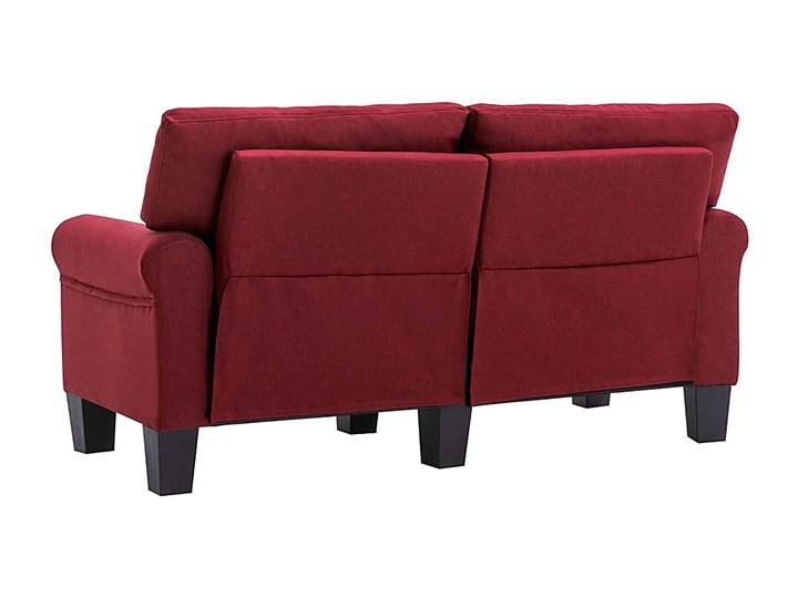 Luksusowa trzyosobowa sofa czerwone wino - Alaia 2X Głębokość 70 cm Styl Nowoczesny Szerokość 145 cm Rozkładanie