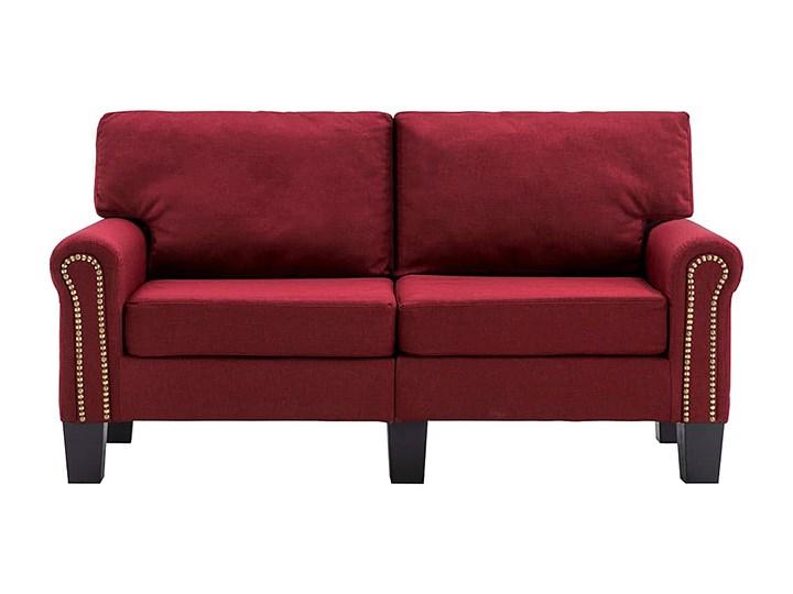 Luksusowa trzyosobowa sofa czerwone wino - Alaia 2X Kolor Czerwony Szerokość 145 cm Głębokość 70 cm Boki Z bokami