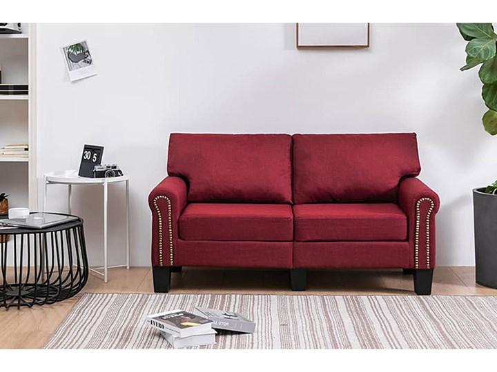 Luksusowa trzyosobowa sofa czerwone wino - Alaia 2X Szerokość 145 cm Głębokość 70 cm Boki Z bokami