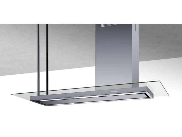 Okap wyspowy Metropolis Glass Inox 146 cm Sterowanie Elektroniczne