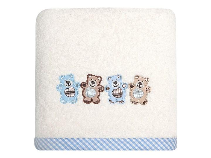 Ręcznik dziecięcy 70x140 Eurofirany Baby 3 misie kremowy niebieski 450g/m2