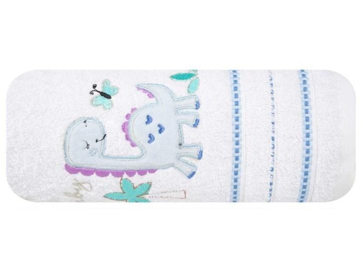Ręcznik dziecięcy 70x140 Eurofirany Baby 29 dinozaur biały niebieski 450g/m2