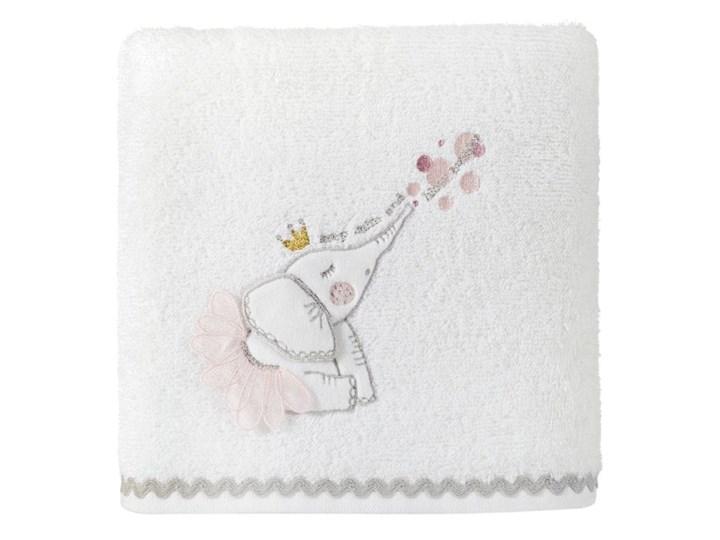 Ręcznik dziecięcy 70x140 Eurofirany Baby 23 słonik biały 400g/m2
