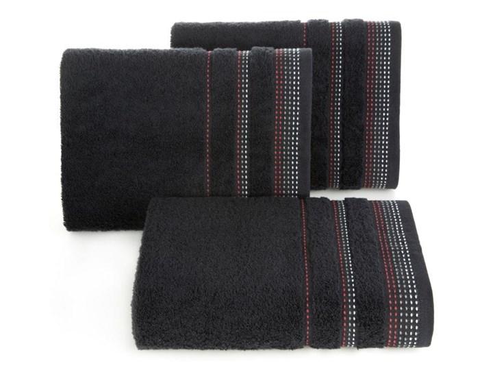 Ręcznik hotelowy 30x50 Eurofirany Pola czarny 500 g/m2