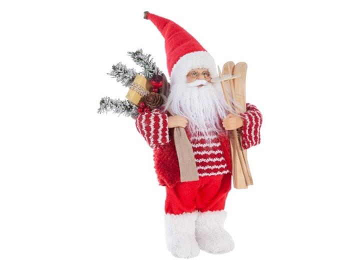 Figurka świąteczna Mikołaj 30 cm Eurofirany biały czerwony