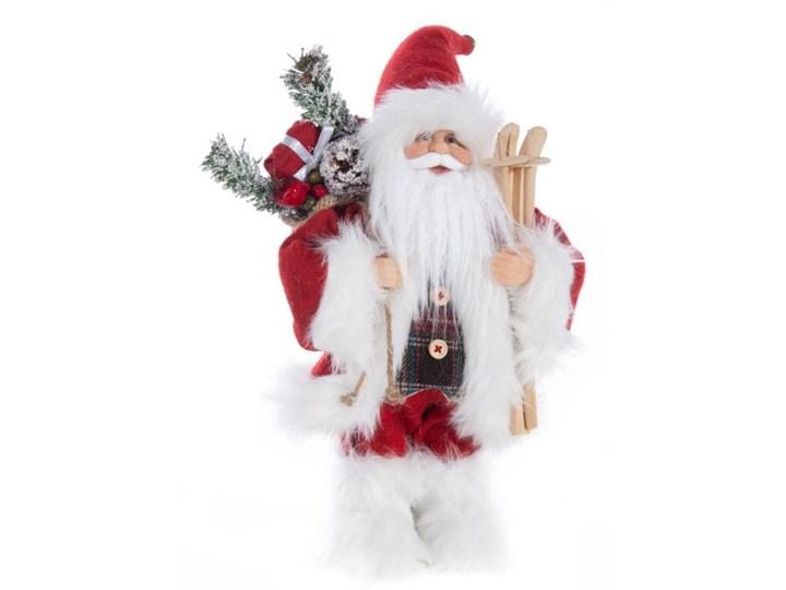 Figurka świąteczna Mikołaj 30 cm Eurofirany biała czerwony