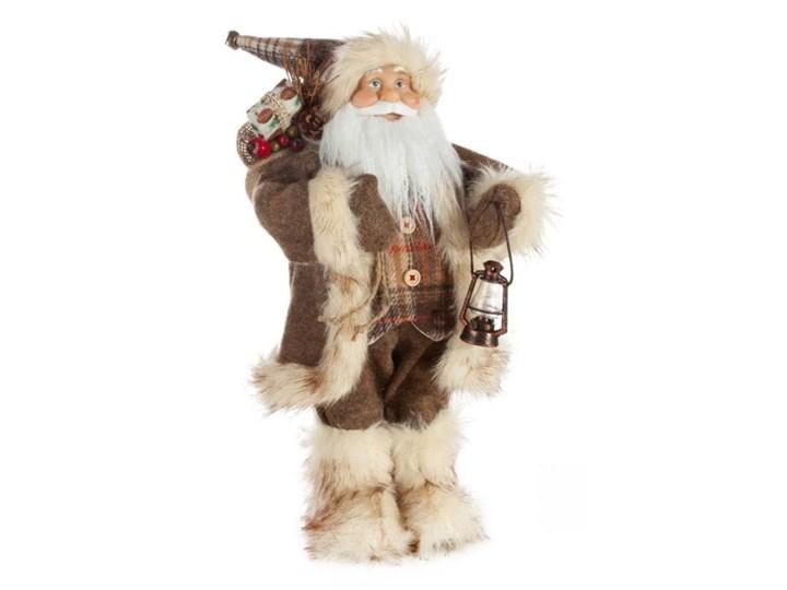 Figurka świąteczna Mikołaj 45 cm Eurofirany brązowy beżowy