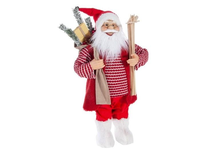Figurka świąteczna Mikołaj 60 cm Eurofirany biała czerwona