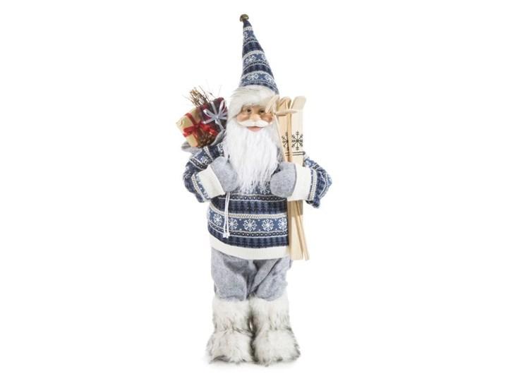 Figurka świąteczna Mikołaj 61 cm Eurofirany stalowa niebieska