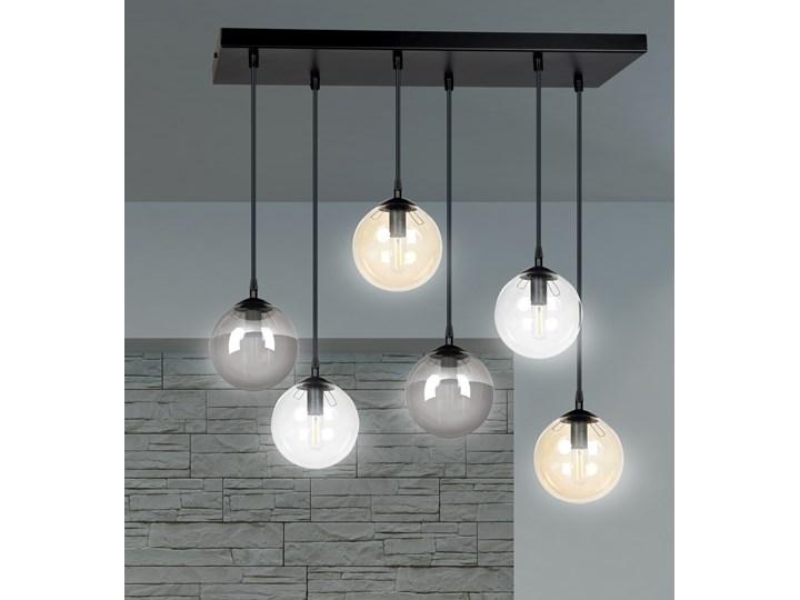 COSMO 6 BL MIX lampa wisząca klosze szklane kule regulowana nowoczesna Lampa z kloszem Metal Styl Nowoczesny Szkło Lampa LED Ilość źródeł światła 6 źródeł