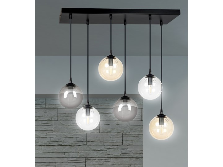 COSMO 6 BL MIX lampa wisząca klosze szklane kule regulowana nowoczesna