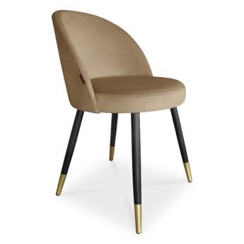 Bettso krzesło ASTON / beż / noga czarno-złota / MG06