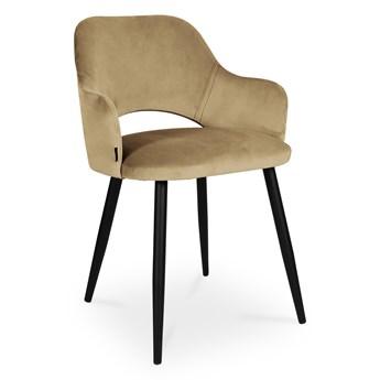 Bettso krzesło MARCY / beż / noga czarna / MG06