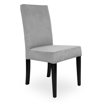 Bettso Krzesło WILLIAM srebrny/ noga czarna/ PA05