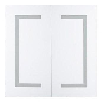 Szafka łazienkowa wisząca z lustrem LED 60 x 60 cm biała MAZARREDO kod: 4251682244473