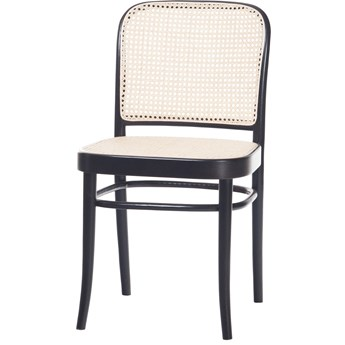 Krzesło 811 Black Grain z ratanową plecionką Cane, TON