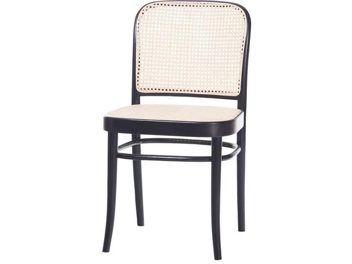Krzesło 811 Black Grain z ratanową plecionką Cane, TON Wysokość 80 cm Wysokość 46 cm Rattan Pomieszczenie Kuchnia Płyta MDF Szerokość 45 cm Drewno Tradycyjne Głębokość 41 cm Tkanina Głębokość 53 cm Styl Nowoczesny