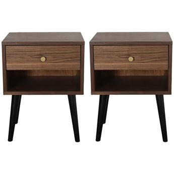 Para szafek nocnych Bedie Waln  , Pastform Furniture