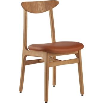 Krzesło Mix 200-190 Natural Leather Cognac jesion 03, proj. R. T. Hałas, 366 Concept