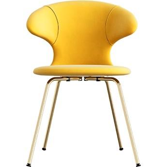 Krzesło Time Flies Canary Yellow mosiądz, proj. J. Søndergaard, UMAGE