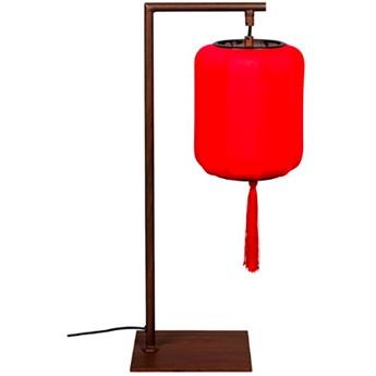 Lampa stołowa Suoni czerwona, Dutch Bone