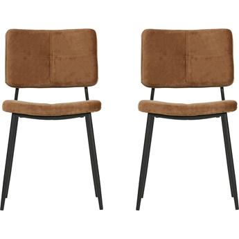 Para krzeseł Kaat brązowe, Woood