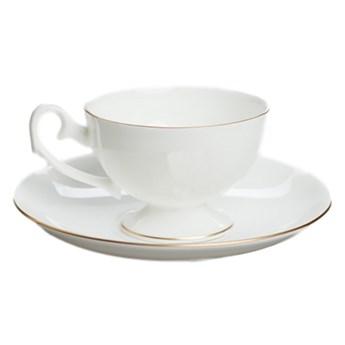Filiżanka do espresso Prometeusz biała porcelana złoty pasek, proj. A. Spała, AS Ćmielów