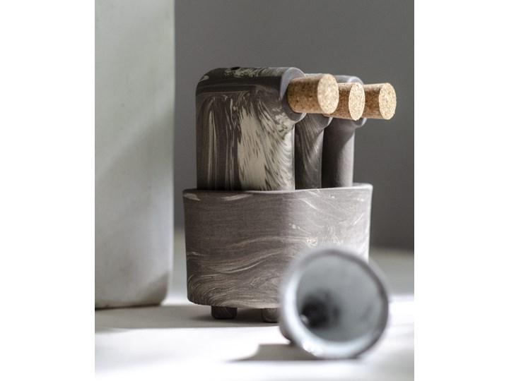 Komplet trzech solniczek i pieprzniczek z pojemnikiem i lejkiem LOF S Marbled, FÓBE Solniczka i pieprzniczka Zestaw do przypraw Ceramika Kategoria Przyprawniki