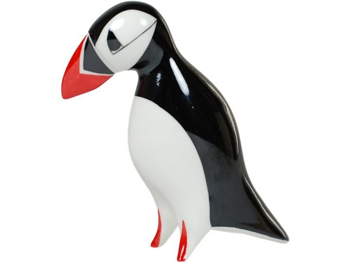 Figurka porcelanowa Maskonur duży, proj. A. Spała, AS Ćmielów Ptaki Kolor Czarny Zwierzęta Ceramika Kategoria Figury i rzeźby