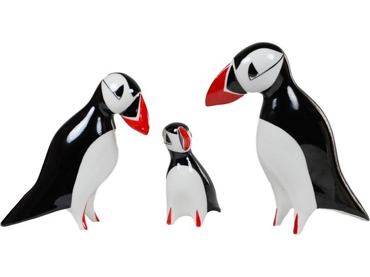 Figurka porcelanowa Maskonur duży, proj. A. Spała, AS Ćmielów Kolor Czarny Ceramika Ptaki Zwierzęta Kategoria Figury i rzeźby