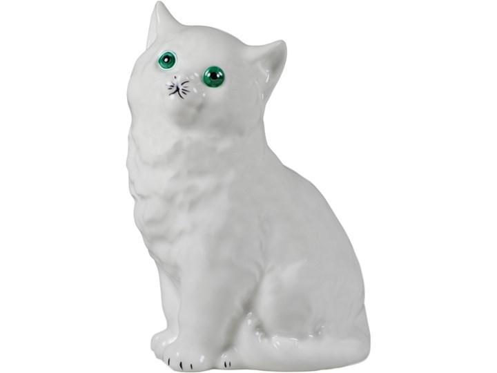 Figurka porcelanowa Kotek zamyślony, AS Ćmielów Kategoria Figury i rzeźby Ceramika Kolor Biały