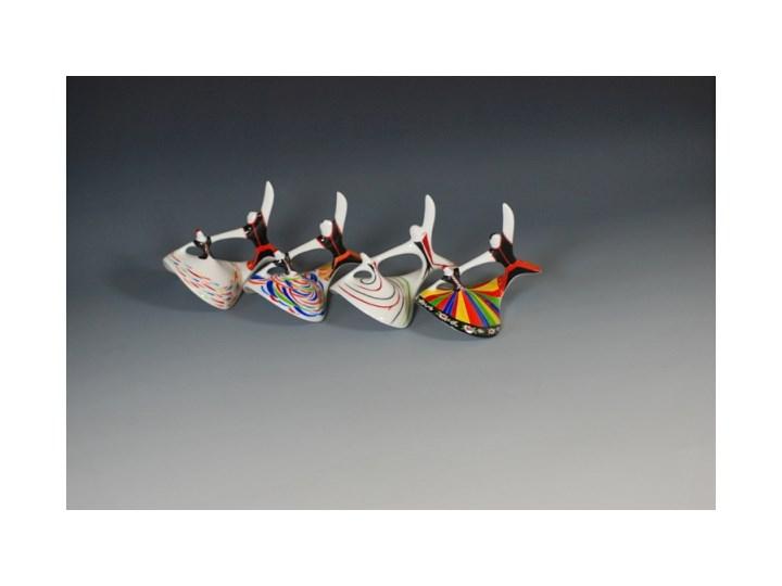 Figurka porcelanowa Mazowsze dekoracja pasy, proj. M. Naruszewicz, AS Ćmielów Szkło Ceramika Kategoria Figury i rzeźby