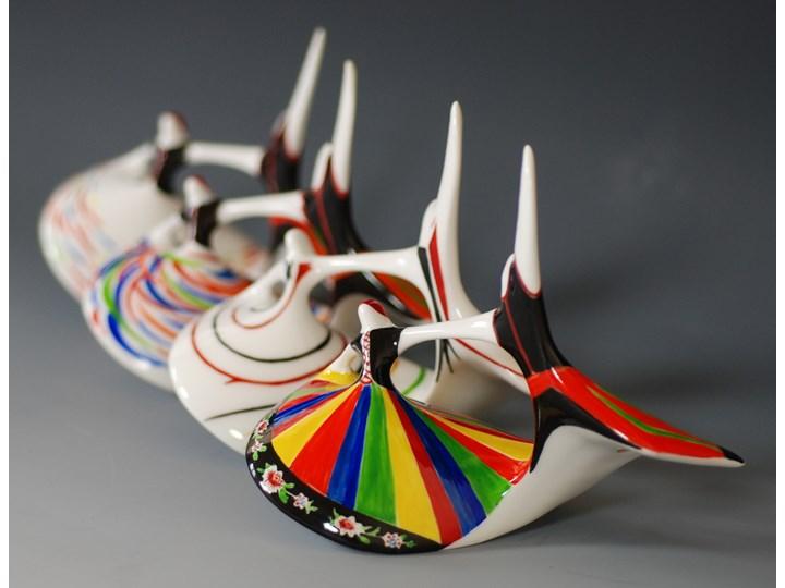 Figurka porcelanowa Mazowsze dekoracja pasy, proj. M. Naruszewicz, AS Ćmielów Ceramika Szkło Kategoria Figury i rzeźby