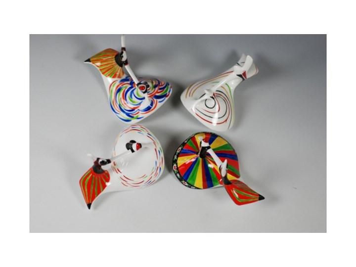 Figurka porcelanowa Mazowsze dekoracja pasy, proj. M. Naruszewicz, AS Ćmielów Kategoria Figury i rzeźby Szkło Ceramika Kolor Wielokolorowy