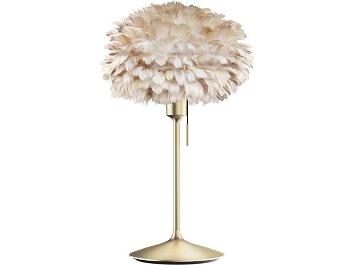 Lampa stołowa Eos Champagne Ø35 jasny brąz i mosiądz, proj. S. R. Christensen, UMAGE Lampa z abażurem Kategoria Lampy stołowe Wysokość 62 cm Styl Skandynawski