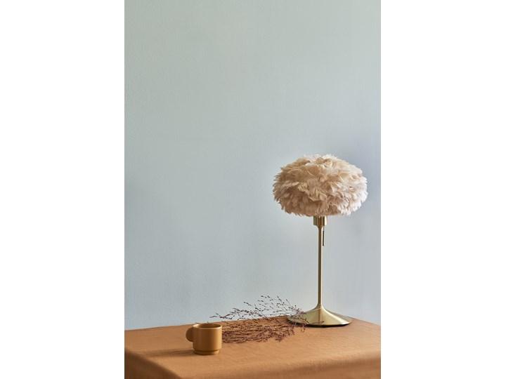Lampa stołowa Eos Champagne Ø35 jasny brąz i mosiądz, proj. S. R. Christensen, UMAGE Lampa z abażurem Styl Skandynawski Wysokość 62 cm Kategoria Lampy stołowe