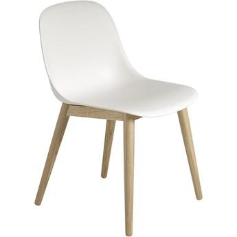 Krzesło Fiber dębowa podstawa/biały, proj. Iskos-Berlin, Muuto