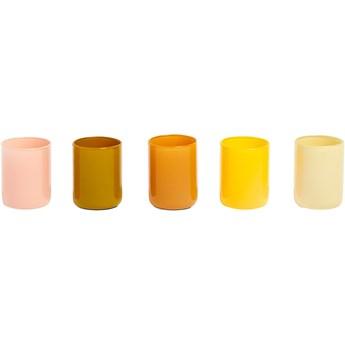 Zestaw pięciu świeczników Spot Votive żółte, HAY
