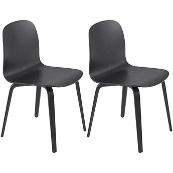 Para krzeseł Visu czarny, proj. M. Tolvanen, Muuto