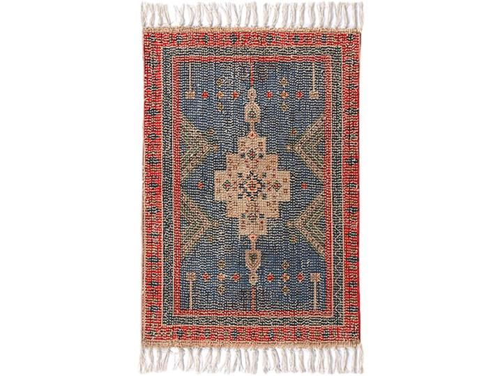 Mata łazienkowa czerwono-niebieska 60x90, HKliving 60x90 cm Bawełna Drewno Kolor