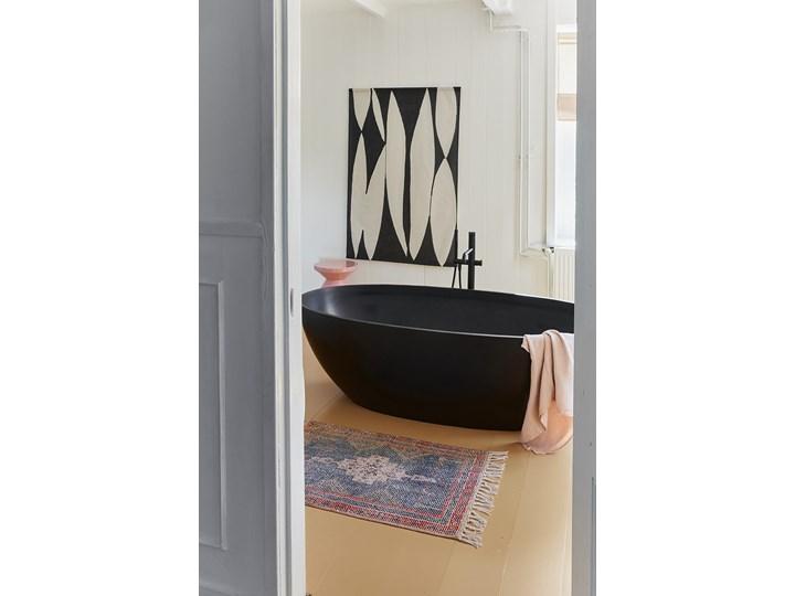 Mata łazienkowa czarno-biała 60x90, HKliving Bawełna 60x90 cm Drewno Kolor Czarny
