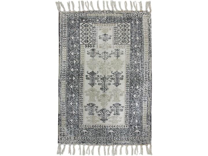 Mata łazienkowa czarno-biała 60x90, HKliving Drewno 60x90 cm Kolor Biały Bawełna Kolor Czarny